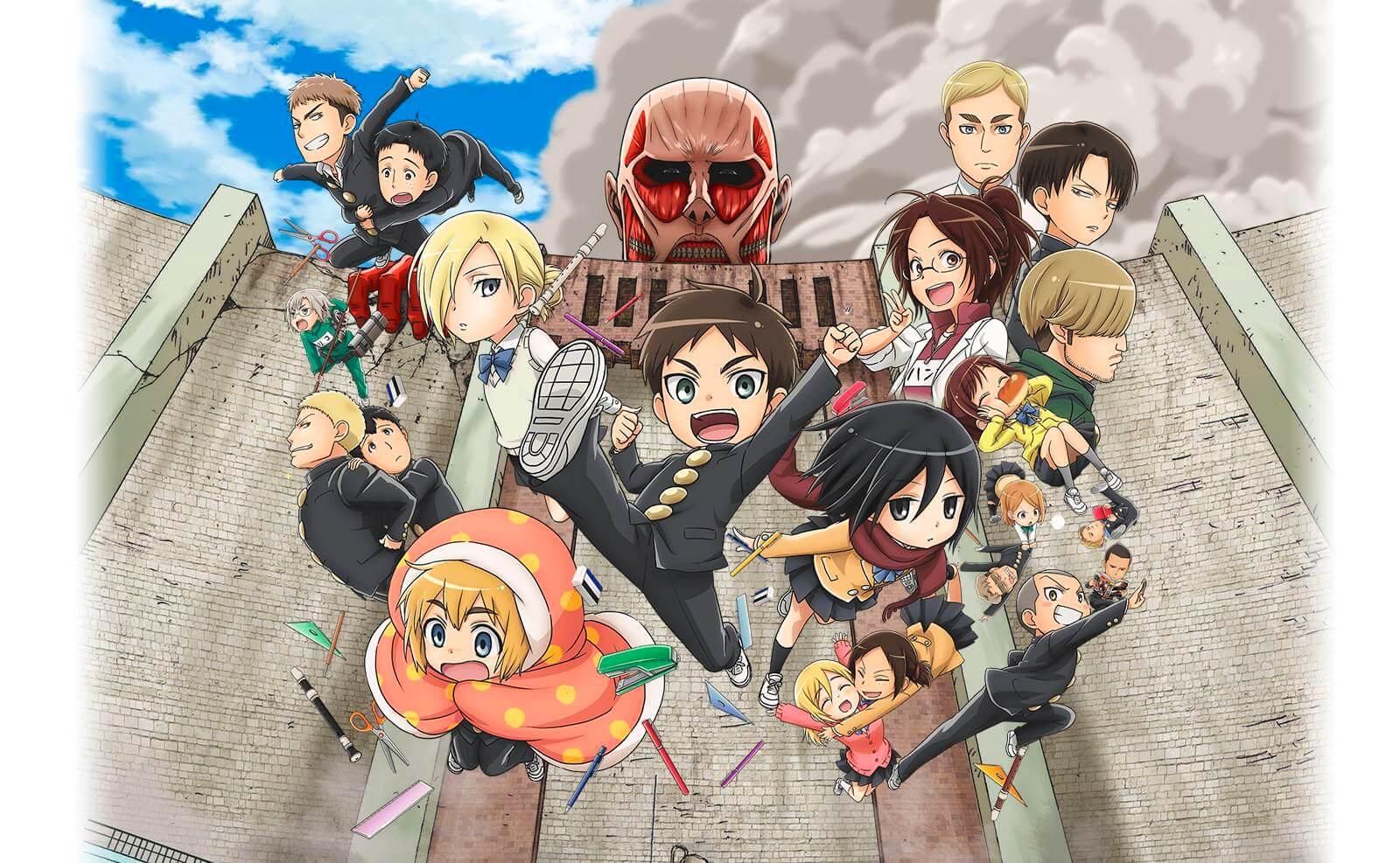 Descargar Shingeki! Kyojin Chuugakkou anime subtitulado en español